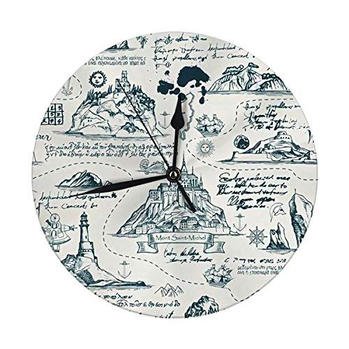 FETEAM Reloj de Pared Decorativo Grande de 9,8 Pulgadas Abstracto sobre el...