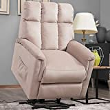 Merax Electric Recliner Chair Lazy Sofa for Elderly, Power Lift Office or Living Room, Linen