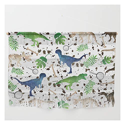 Society6 Watercolor Dinosaurs by Christyne on Wall Hanging - Large 47' x 32 1/4'