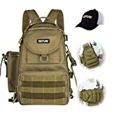 Goture Fishing Tackle Storage Backpack - Lightweight Water-Resistant Outdoor Shoulder Fishing Gear...