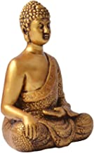 F Fityle Sitting Buddha Statue Handmade Meditating Sculpture Figurine Decorative Home Decor Accent Rustic Handcrafted - Go...
