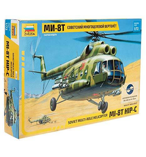Zvezda 7230 - Modellino Elicottero Mil Mi-8T Hip-C Soviet Scala 1/72