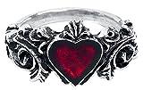 Alchemy Gothic Betrothal Mujer Anillo Plateado XXS, Peltre,