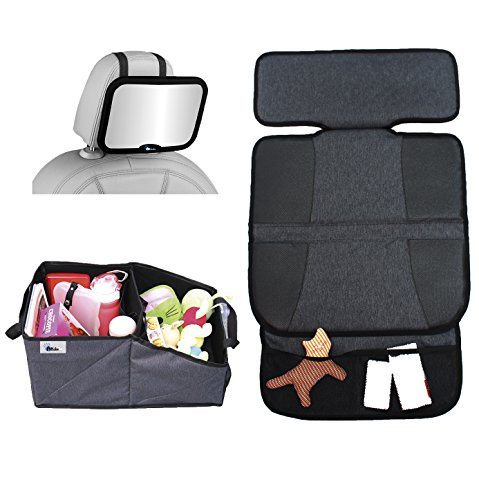 Altabebe Set de voyage pour siège de voiture comprend Siège arrière miroir et tapis de protection (Grand)