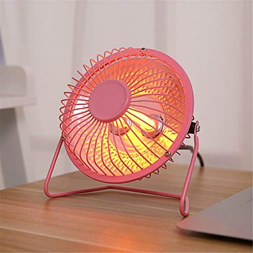 Portable Heater Mini Electric Heater Silent Fan Desktop Suitable for Home Office, Saving Electricity And Energy,Pink,4in