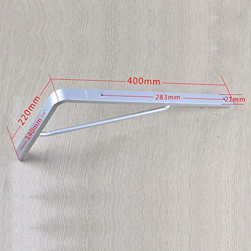 Verstelbare klaphouder, stabiel aluminium frame, plankenhouder, planken, 90 graden hoekframe, statief, afmetingen optioneel draaibaar (afmetingen: 400 x 220 mm). 400 * 220mm
