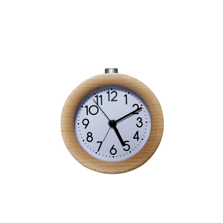 スタッフ論理的にコロニアルTHOR-YAN 目覚まし時計純木クリエイティブベッドサイドミュート時計子供発光ナイトテーブルクロック怠惰なベッドヘッドスリーピー目覚まし時計 - 目覚まし時計 8562