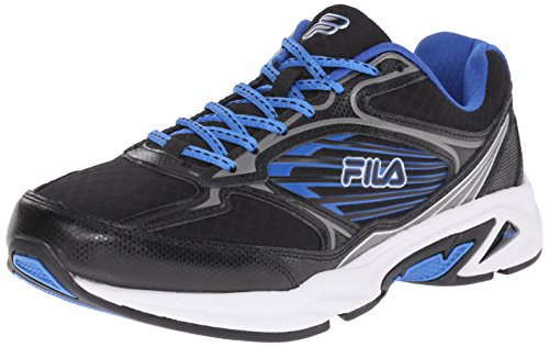 Fila Men's Inspell 3-m Running Shoe, Black/Dark Silver/Prince Blue, 10 M US