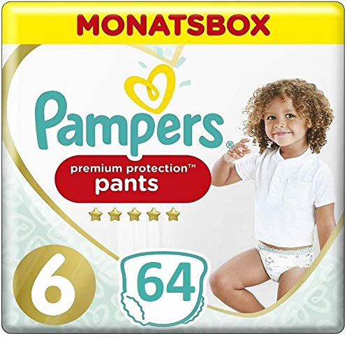 Pampers Premium Protection (128 Pants) Gr. 6 15kg+, Monatsbox Giga Pack