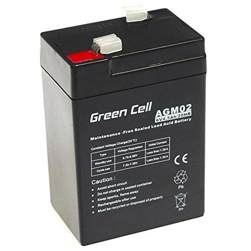 Green Cell® Akku Batterie AGM 6V 4.5Ah VRLA