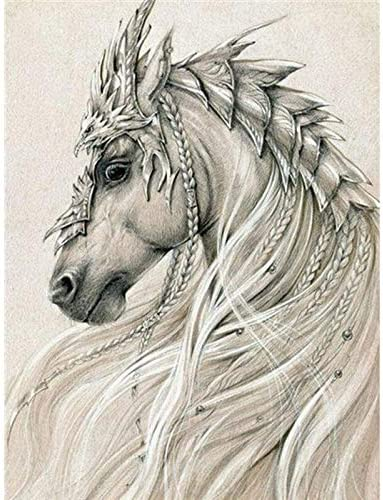 PEISHI OFFicial site Full Circle Diamond Max 56% OFF Animal Embroid Horse Painting