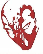 Deadpool Bloody Face Decal Vinyl Sticker|Cars Trucks Walls Laptop|RED|6 In|KCD451