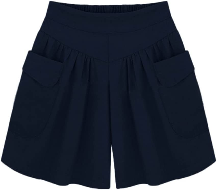 Max 66% OFF Recommended Womens Pants Casual Plus Size Solid Pockets S Shorts Loose