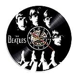 ビニールの壁時計、寝室のための歌手ビートルズのビニールのレコードの壁時計 バーのキャバレーの店の壁の装飾の時計