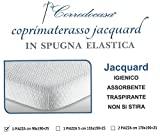 Corredocasa - Coprimaterasso singolo in spugna lavorata traversa 1 piazza