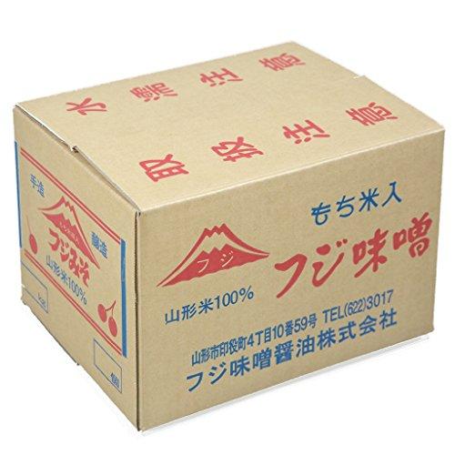 山形県産米ササニシキと国産丸大豆使用・極上味噌(つぶ)10kg入り・もち米麹入り麹歩合200の最高級味噌