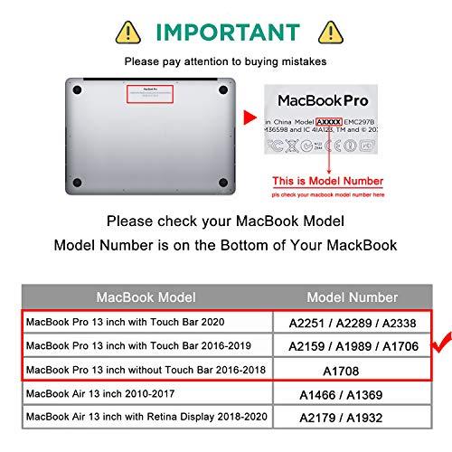 Belk MacBook Pro 13 Hülle M1 2020 2019 2018 2017 2016 Freisetzung,Glitter-Pulver Plastik Hartschale Tasche Schale Cover + Tastaturschutz (EU Layout) + Displayschutzfolie, Rose Gold