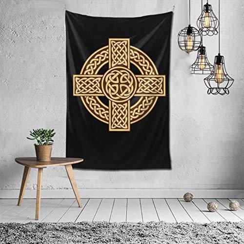 Celtic cross irish scottish Tapestry Wall Hanging For Living Room Bedroom Dorm Room Home Decor 40 X 60In