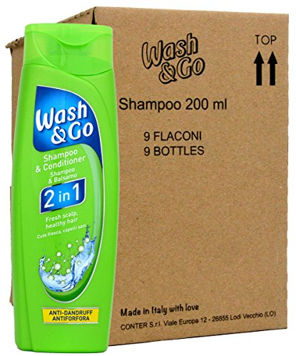 Unbekannt Wash & Go 2in1 Anti-Schuppen Shampoo & Conditioner - 9X