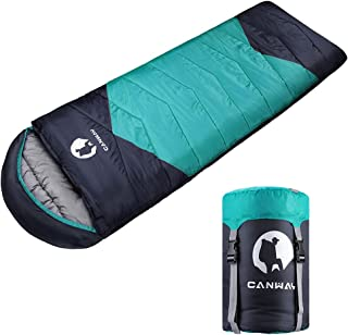 CANWAY寝袋 シュラフ 封筒型 210T防水 キャンプ スリーピングバッグ 収納袋付き オールシーズン バージョンアップ1.1kg/1.9kg