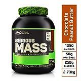 Optimum Nutrition Serious Mass, Mass Gainer avec Whey protéine, Proteines Musculation Prise de Masse avec Vitamines, Creatine et Glutamine, Chocolat Beurre de Cacahuète, 8 Portions, 2,73 kg