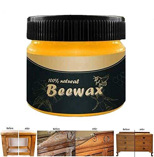 Wood Seasoning Beewax - Cera de abeja multiusos Natural Beeswax Furniture Care...