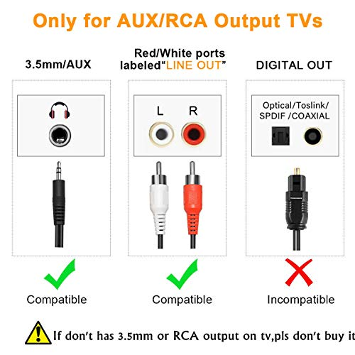 CARPURIDE Transmetteur Bluetooth pour TV PC, aptX Faible Latence,(3.5 mm, RCA, Digital Audio) Dual Link USB d'ordinateur sans Fil Adaptateur Audio pour Casque d'écoute, Plug and Play