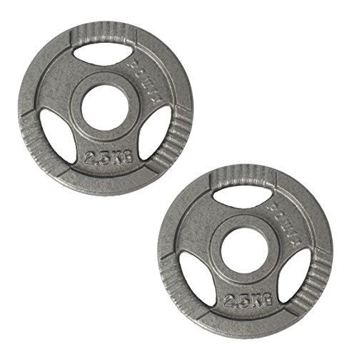 POWRX Olympia Gewicht Hantelscheiben 2,5-40 kg   2er Set ideal für Kurzhanteln und Langhanteln mit Durchmesser 50 mm (2.5)
