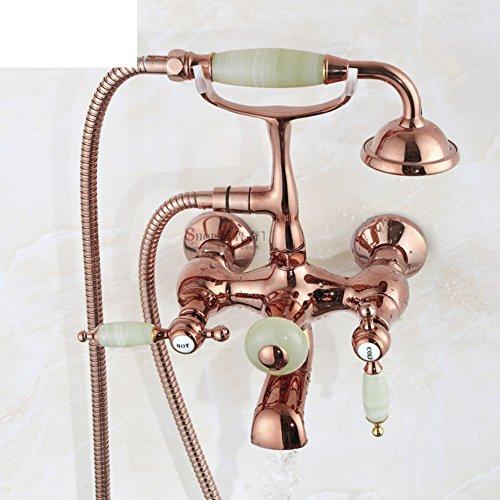 Dusche Wasserhahn Set/Kupfer Antik Dusche/Vintage freistehende Badewanne Mixer-B