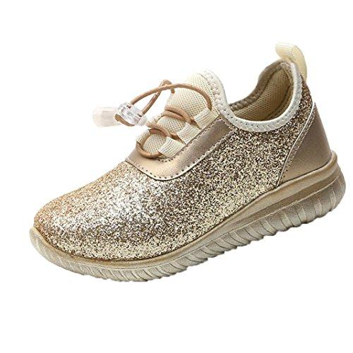 PAOLIAN Verano Zapatos para Niños para Niñas Antideslizante Rejilla Breathable Aire Libre y Deporte Casual Calzado de Deportes para Bebés De 6 Meses 2T 3T 4T 5T 6T 7T 8T (31, Dorado)