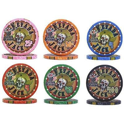 PokerShop.it Sample Pack fiches Ceramica Nevada Jack Replica