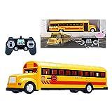 XHCP RC School Bus Control Remoto Vehículos de automóvil 6 Canales 2.4G Puertas Que se abren Juguetes de aceleración y desaceleración con Sonidos simulados y Luces LED Camión electrónic