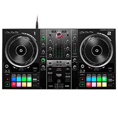Hercules DJControl Inpulse 500 2-Deck DJ Controller + Kepdrum HALS-20 Laptop Stand