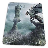 マウスパッド 竜のお城 ゲーミングマウスパット デスクマット 最適 高級感 おしゃれ 滑り止めゴム底 防水設計 複数サイズ