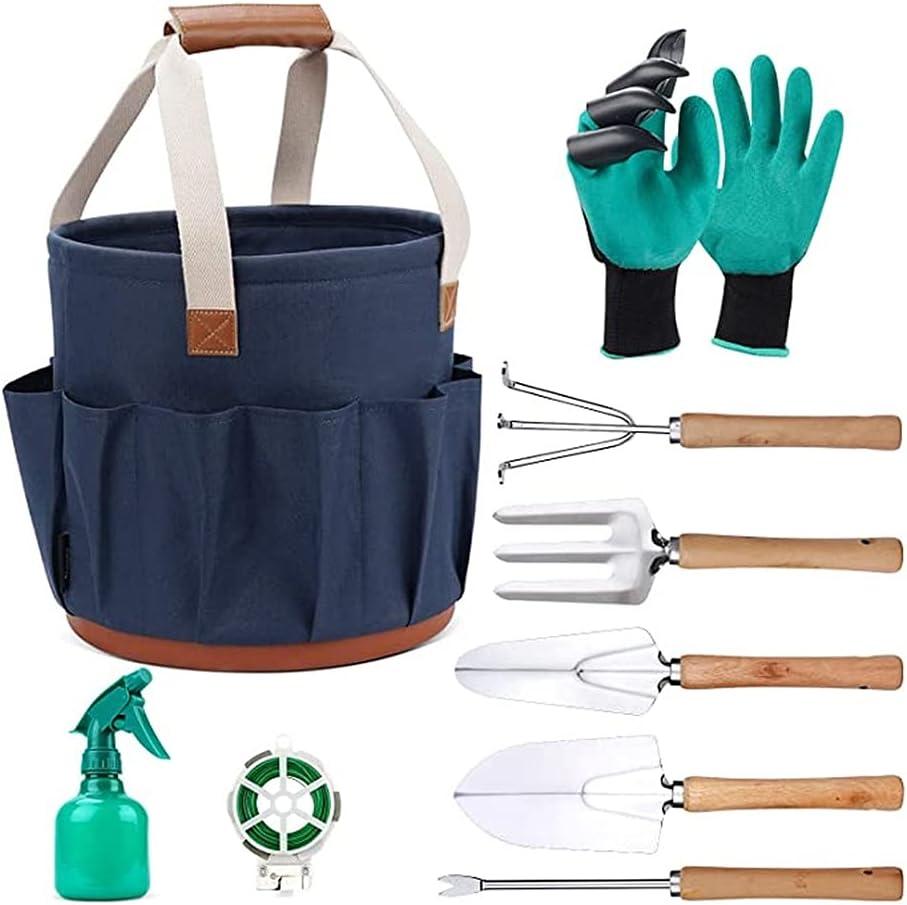 AHXF Garden Tools Set 9 Kansas City Mall PCS Duty Aluminum Save money Gardening Heavy T Hand