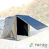 Terzo テルッツォ (by PIAA) 車用タープ 1個入 エアフレーム カーサイドタープ ブラック 組立簡単なエアポンプ付き 設置サイズD2000mm×W2000mm×H2100mm UVカット 撥水加工 EA314
