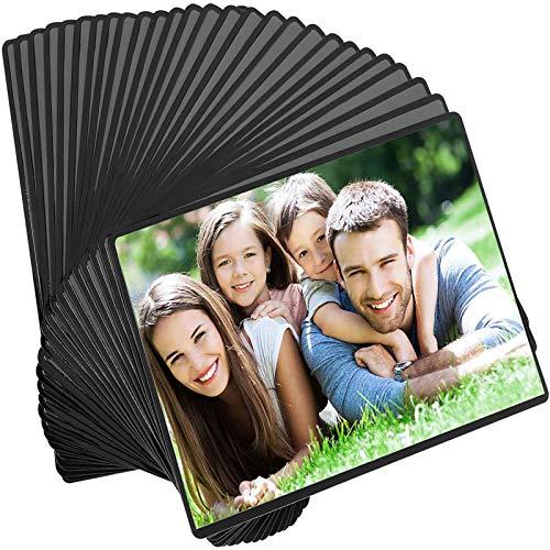 Magicfly Cadres à Photos Magnétiques Frigo Convient aux Photos de 10x15 cm, avec Poche Transparente pour Réfrigérateur Casier Armoire de Bureau, Paquet de 30pcs (Noir)