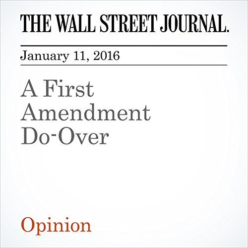 A First Amendment Do-Over cover art