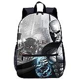 QULONG Batman Arkham City Rucksack 3D-gedruckter Teenagers Schultasche Casual Daypack Leichte Travel...