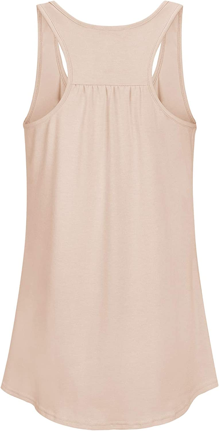 Cyanstyle Womens Sleeveless Pleated Loose Fit Casual Racerback Workout Tank Top