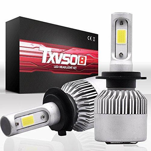 Fenghezhanouzhou Ampoules de Phare H7 LED, 36W 4600Lm 6000K Cool White Kit de Conversion extrêmement Lumineux (sur 2)