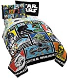 Star Wars Classic Grid 5 Piece Full Bed Set - Includes Reversible Comforter & Sheet Set - Bedding Features Luke Skywalker - Super Soft Fade Resistant Microfiber (Official Star Wars Product)