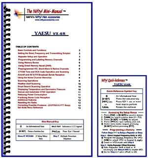 Yaesu VX-6R Mini-Manual and Card Combo by Nifty Accessories
