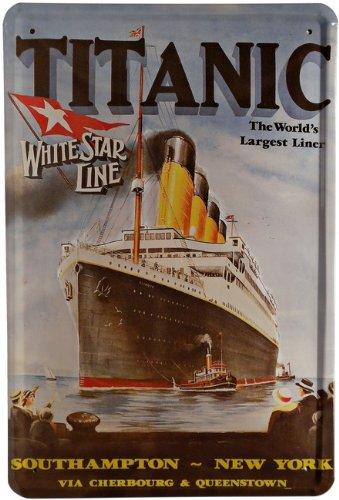 Plaque en métal Titanic 20 x 30 cm Publicité rétro Tôle 58