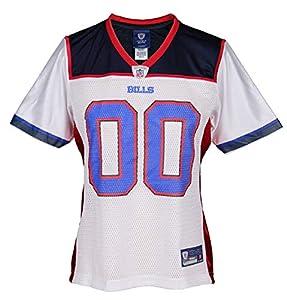 Buffalo Bills NFL Womens Team Replica Jersey, Wht/Red/Blue (Large)