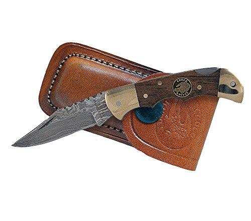 Croco Knives Klappmesser Damascus 1 Klingenlänge 5.3 cm, 12.3 cm, 331407