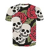 TikTok同じスタイル ファッションメンズラウンドネックTシャツ3Dポスターイメージデジタル印刷半袖-8 XL.
