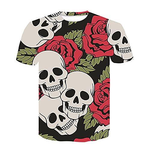 Interesting T-Shirt,Fashion Men's Round Neck T-Shirt 3D Poster Image Digital Printing Short Sleeve-8_M
