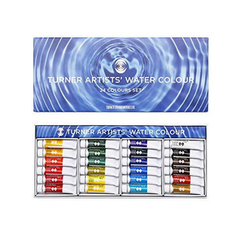 Turner Expert for Transparent Watercolor Paints 24 Color Set