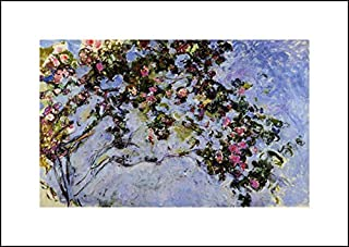 Claude Monet 20x14 Art Print - The Rose Bush